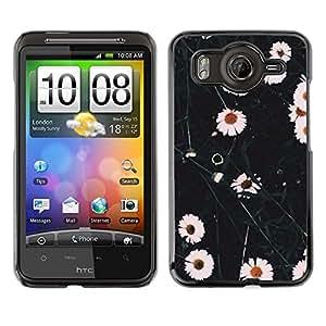 For HTC Desire HD / G10 / inspire 4GCase , White Flowers Nature Field - Diseño Patrón Teléfono Caso Cubierta Case Bumper Duro Protección Case Cover Funda