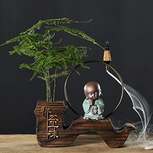Incense Burner Backflow Environmentally Friendly Wood (conical) for Home Decoration by Incense Burner (Image #3)