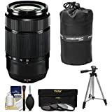 Fujifilm 50-230mm f/4.5-6.7 XC OIS Zoom Lens (Black) with 3 UV/CPL/ND8 Filters + Tripod Kit for X-A2, X-E2, X-E2s, X-M1, X-T1, X-T10, X-Pro2 Cameras