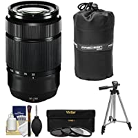 Fujifilm 50-230mm f/4.5-6.7 XC OIS Zoom Lens (Black) with 3 UV/CPL/ND8 Filters + Tripod Kit for X-A2, X-E2, X-E2s, X-M1, X-T1, X-T10, X-Pro2 Cameras