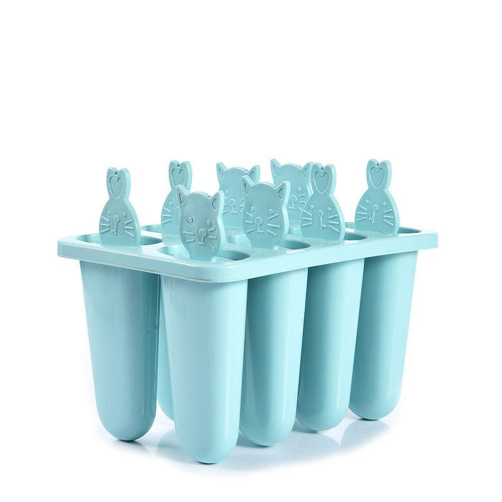 Ice Cream Tubs - Pop Popsicle Mold Tray Frozen 8 Cell Cat Lolly Mould Ice Cream Maker 1 Set - Disposable Cream Girls Freezer Lids Tubs Cream Tubs Churro Maker Mold Lolly Elsa Frozen Angle Micro