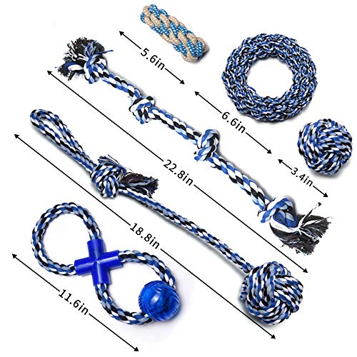 Fur collection rope dog toys - small to medium set - 10pk assorted colours - tough and durable pack - strong for puppies - safe non toxic for your dog teeth