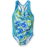 Speedo Girls' Tie Dye Splash Sport Splice 1 Piece