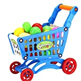 Floralby Kids Shopping Trolley Toys Pretend Shopping Role Play Educational Toy