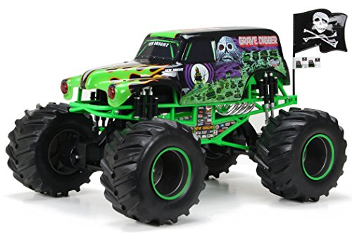 - New Bright R/C F/F Monster Jam with Light, Sound and Try-me includes 12.8V Power Pack, Batteries and Charger (1:8 Scale)