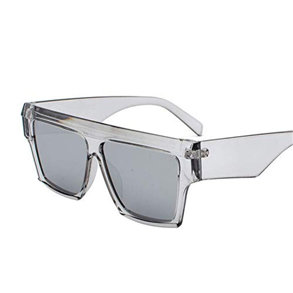 Women Polarized Sunglasses TANGSen Retro Fashion Sunglasses Mirrored Lens Fashion Goggle Eyewear Glasss(Gray,Free Size)