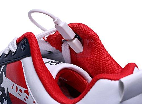 Certificato Promenade Scarpe da USB Regalo Rossa Unisex LED del Lampeggiante con Carica Partito di del Giorno per Tennis Shinmax Il Luci 7 Stella Colori Scarpe con di Natale CE aBnRxR