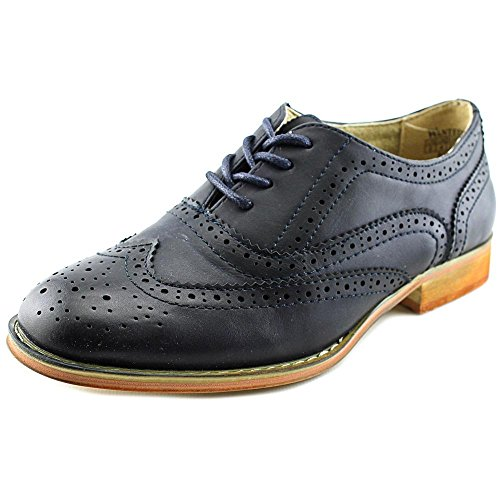 Wanted Shoes Womens Babe Oxford, Blue, 6 M US
