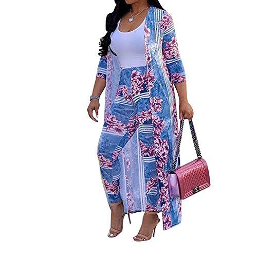 LUKUCEA Casual Suit Sexy Digital Printing Cloak Casual Women