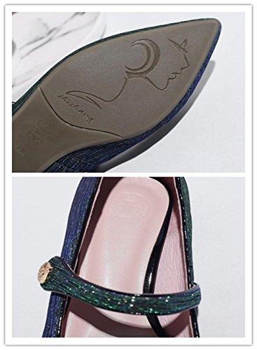 MUYII Schuhe Pumps Pailletten Flach Frauen Spitzenschuhe rq0rUX