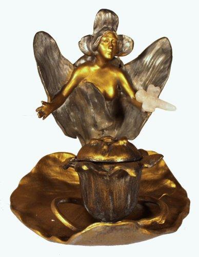 - Dakini Designs Incense Burner/ Art Nouveau / Fairy
