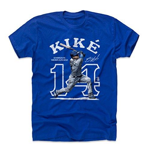 - 500 LEVEL Enrique Hernandez Cotton Shirt XXX-Large Royal Blue - Los Angeles Baseball Men's Apparel - Enrique Hernandez Outline W WHT
