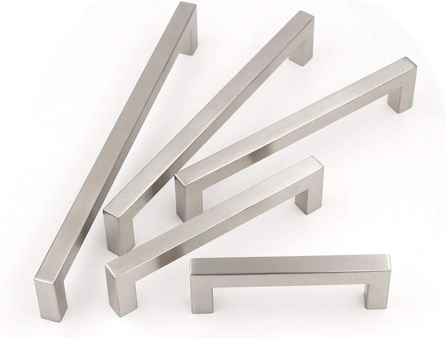 cocina para armario tirador cuadrado caj/ón Goldenwarm/®- Tirador de acero inoxidable cepillado