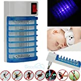 Electric LED Socket Mosquito Fly Bug Insect Trap Zapper Killer Night Lamp 110V