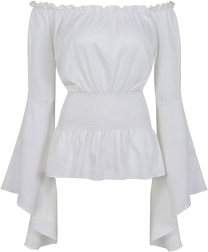 Amazon.com: Blusa de manga larga para mujer, estilo gótico ...