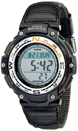 Casio Men's Digital Compass Twin Sensor Sport Watch Green SGW100B-3V