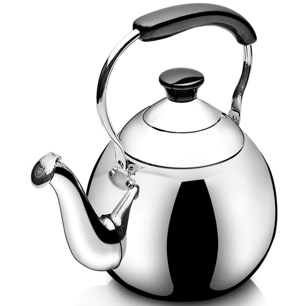 FJH Sifflet à induction automatique à gaz pour cuisinière à induction en acier inoxydable 304 (Capacité : 3L) Bouilloire