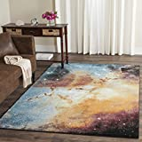Safavieh Galaxy Collection GAL109D Abstract Watercolor Orange and Multi Area Rug (3′ x 5′) Review