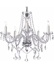 Saint Mossi® Modern Contemporary Elegant Crystal Glass Chandelier Pendant Ceiling Lighting Fixture