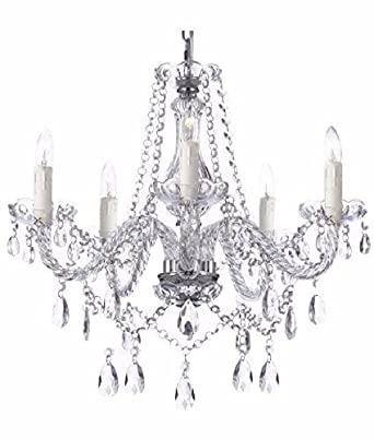 Saint Mossi Modern Contemporary Elegant K9 Crystal Glass Chandelier Pendant Ceiling Lighting fixture – 5 Lights