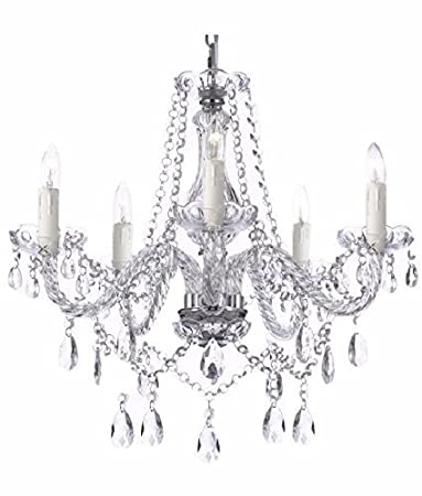 Saint Mossi Modern Contemporary Elegant K9 Crystal Glass Chandelier