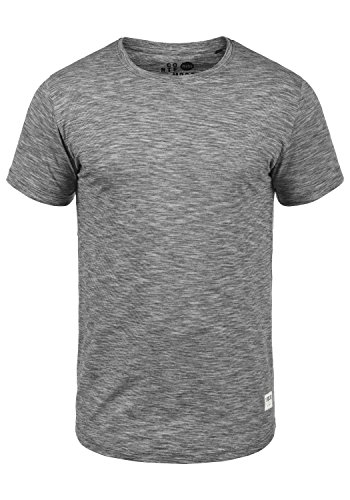 9000 Figos Redondo 100 Hombre Para Corta Cuello Camiseta Con shirt solid T Algodón Básica Black Manga De a7ddn1O