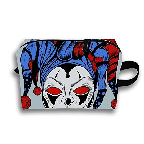 Cosmetic Bag Zipper Storage Bag Portable Ladies Travel Evil Clown Makeup Bag ()