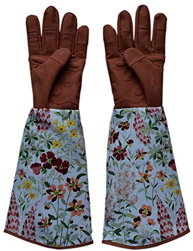 tended Long Cuff Genuine Puncture Resistant Garden Gloves,Work Gloves ---For Women Gardening / Pruning / Picking / Trimming / Yard Work and so on (Long Gardening Gloves)