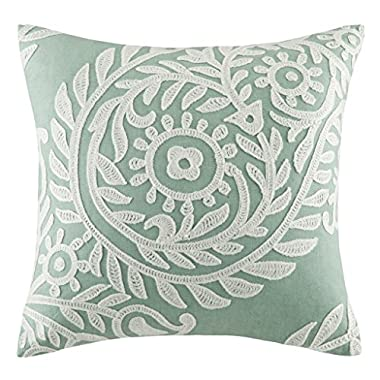 Harbor House Miramar Square Pillow, 18 by 18-Inch, Jadeite