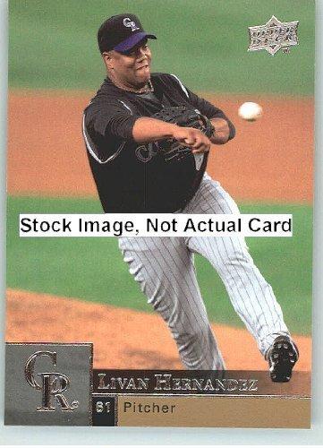 2009 Upper Deck Baseball Card # 235 Livan Hernandez (Rockies) MLB Trading Card - Livan Hernandez Baseball