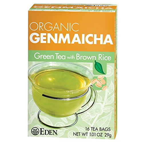 (Eden Foods Genmaicha Green Tea with Brown Rice 16 Tea Bags, 1.01-Oz. (3)