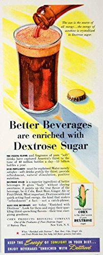 1942 Ad Corn Dextrose Sugar Soft Drink Soda Pop Beverage Diet Humorous Food YLK1 - Original Print Ad from PeriodPaper LLC-Collectible Original Print Archive