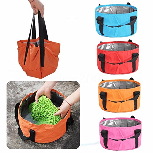 MIJORA-8.5L Portable Outdoor Folding Camping Basin Bucket Bowl Sink Wash Bag Water Pot (Costco Lounge Furniture Outdoor Chaise)