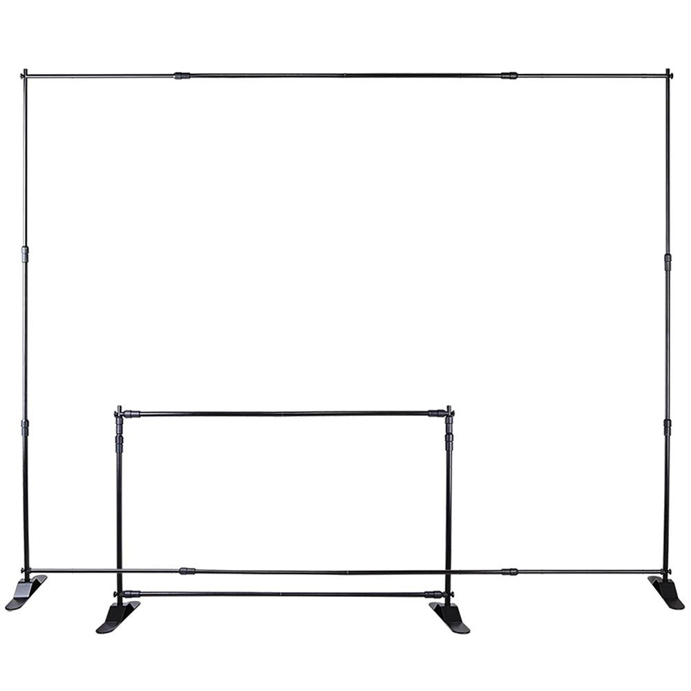 WinSpin 10 Ft Adjustable Background Banner Stand Backdrop Exhibitor Expanding Display by WinSpin (Image #3)