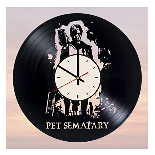 Pet Sematary Vinyl Clock Gift for Fans Stephen King Wall Decor Art Handmade Living Room Artwork