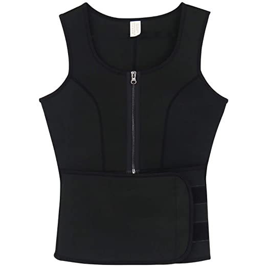 d5c904f6548 Image Unavailable. Image not available for. Color  BARGOOS Women Sweat Vest Waist  Trainer ...