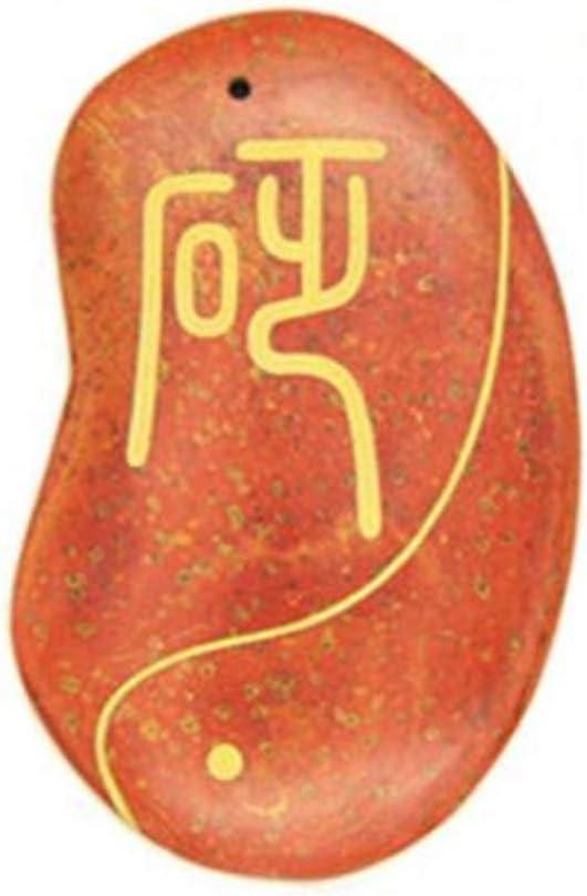 ZJN-JN Herramienta de masaje cero, zafiro colgante raspado Junta de doble propósito, de textura fina (Color: Naranja, tamaño: 8 * 5 * 0.7cm) masaje de piedras