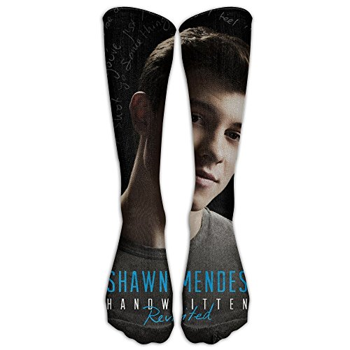 J Cole Halloween Costumes (HEI222 Costume Cosply Socks Halloween Funny Unisex Shawn Mendes Crew Fashion Novelty Socks WhiteOne Size)