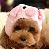 Alfie Pet by Petoga Couture – Qeno Pig Hat Party Costume (for Small Dogs & Cats) – Color: Pink, Size: Medium