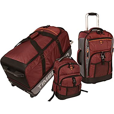 Timberland Hampton Falls 3 Piece Set, Chocolate Truffle/Steel Grey/Burnt Orange/Black, One Size