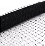HUNIKC Black 13 x 15 ft Garden Plant Netting Anti-Bird Netting Protect Plants Fruit Trees Vegetables Flowers Seedlings from Birds Rodents Deer