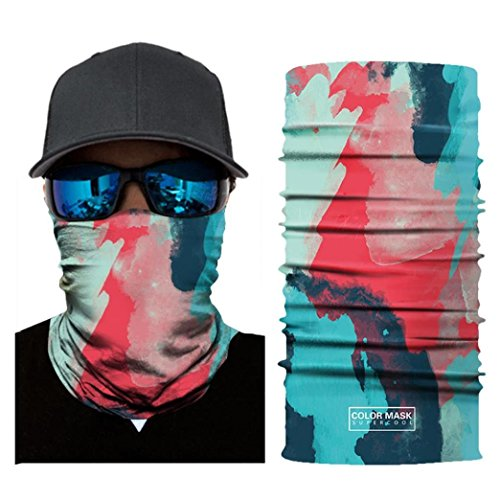(Auwer 3D Stretchable Face Shield Mask Guards Balaclava Headwear for Camping, Cycling, Motorcycling)