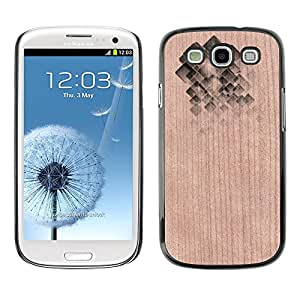 - Abstract Polygon Pattern Gem Shiny - - Funda Delgada Cubierta Case Cover de Madera FOR Samsung Galaxy S3 I9300 I9308 I737 BullDog Case