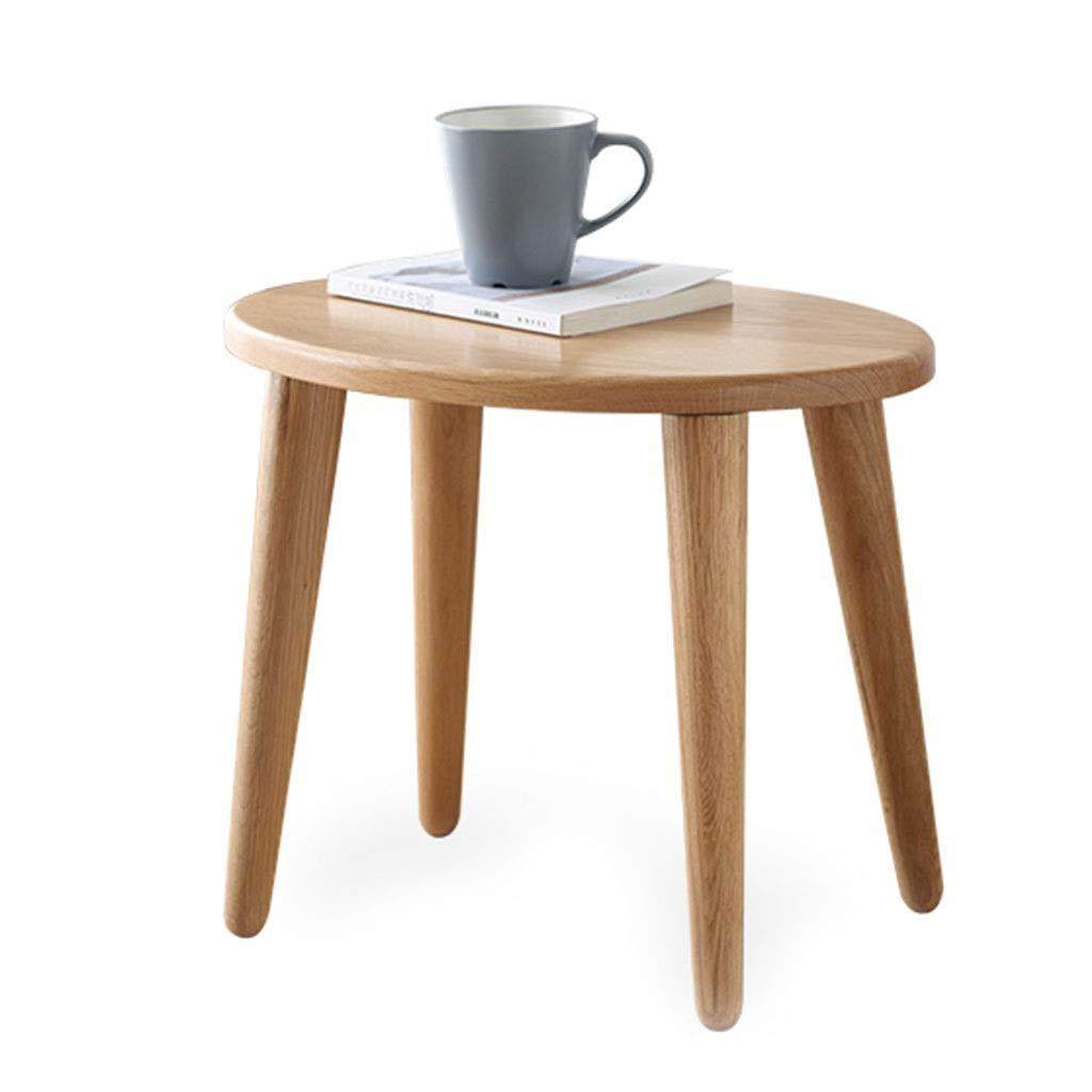 Hocker Anziehen Haushaltsgegenstände Massivholz Couchtisch Hocker Nordic Freizeitlernbank Geeignet Für Die Küche, Wohnzimmer (Color : Wood Color, Size : 46 * 31 * 38cm)
