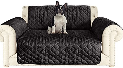 AKC Quilted Pet Love Seat Cover in Black/Grey (Best Place To Buy Sectional Sofa)