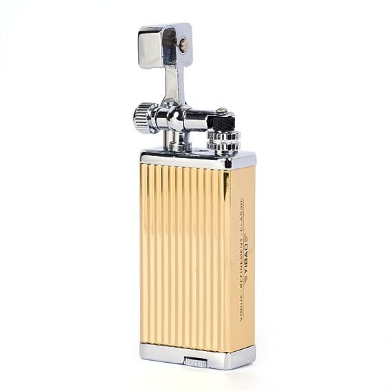yibao estilo antiguo ascensor brazo Cigarette - Mechero de gas butano yb013, dorado: Amazon.es: Deportes y aire libre