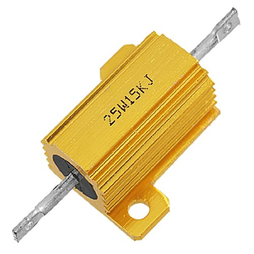 uxcell 15K Ohm 5% Screw Tap Mounted Aluminum Housed Wirewound Resistor - Wirewound Resistors Ohm