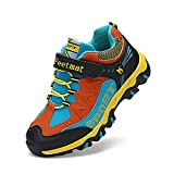 6bd51045c750 3 · Troadlop Boys Hiking Shoes Running Walking Athletic Casual Sneakers  Black Orange Size 3