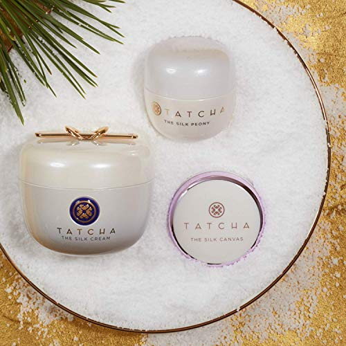 Tatcha Silk Treasures Set: Hydrating and Smoothing 3 Piece Set Including The Silk Peony, The Silk Cream, and The Silk Canvas