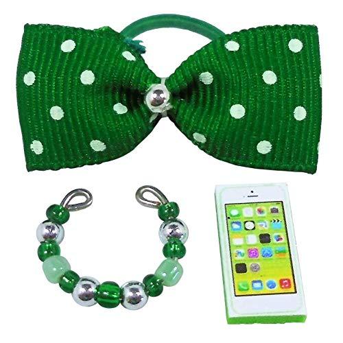 Littlest Pet Shop Random Accessory Grab Bag Lot of 3 : 1 Necklace 1 Bow 1 Phone -